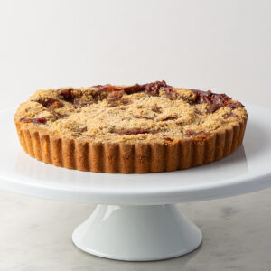 My Most Favorite Food Strawberry Rhubarb Crumb Tart
