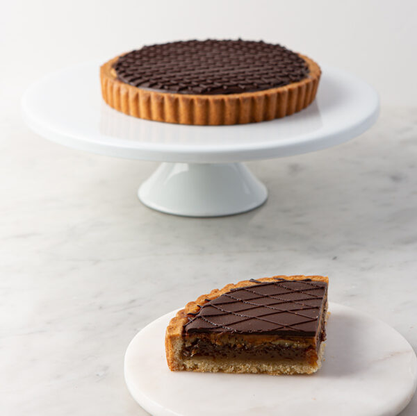 My most favorite Chocolate Peanut Butter Pecan Tart