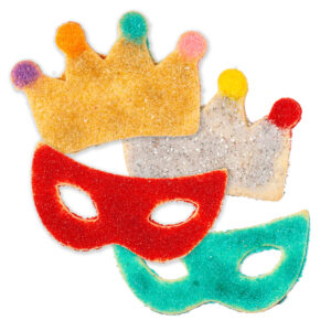 My Most Favorite Food Large Mask Crown Sugar Cookie